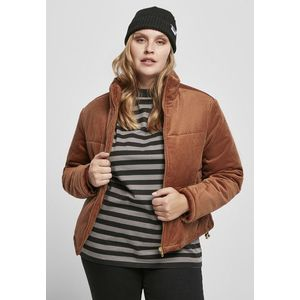 Urban Classics Ladies Corduroy Puffer Jacket toffee obraz