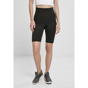 Urban Classics Ladies High Waist Branded Cycle Shorts black/black obraz