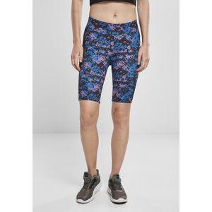 Urban Classics Ladies High Waist Camo Tech Cycle Shorts digital duskviolet camo obraz
