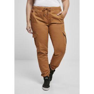 Urban Classics Ladies High Waist Cargo Jogging Pants toffee obraz