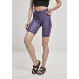 Urban Classics Ladies Imitation Leather Cycle Shorts darkduskviolet obraz