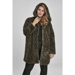 Urban Classics Ladies Leo Teddy Coat darkolive leo obraz