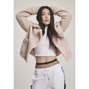Urban Classics Ladies Oversize Sherpa Lapel Jacket rosesand obraz