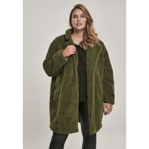 Urban Classics Ladies Oversized Sherpa Coat olive obraz