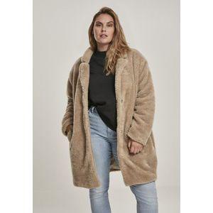 Urban Classics Ladies Oversized Sherpa Coat sand obraz