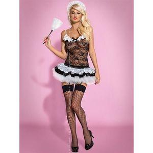 Sexy kostým Housemaid - Obsessive L/XL Černá obraz