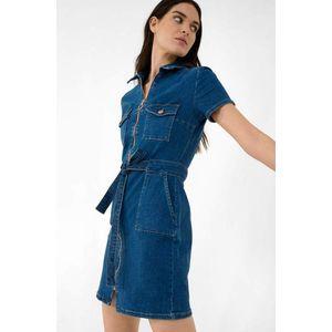Orsay přiléhavé denimové šaty obraz