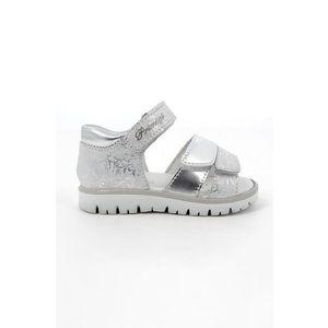 Stříbrné dívčí sandály obraz