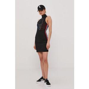 adidas Originals Šaty Černá obraz