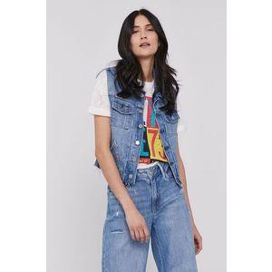 Pepe Jeans - Džínová vesta Elsie obraz