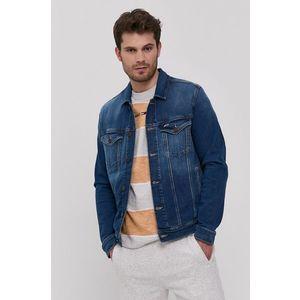 Tommy Jeans pánská modrá bunda obraz