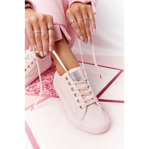 Women's Leather Sneakers CROSS JEANS HH2R4004C Pink obraz