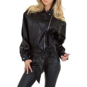 Dámská stylová koženková bunda obraz