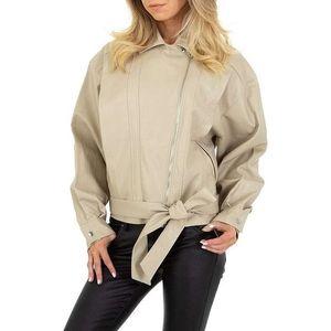 Dámská oversize koženková bunda obraz