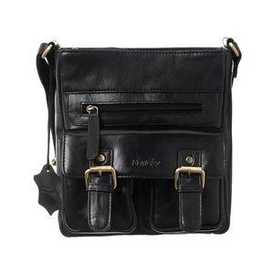 Rovicky černá pánská taška přes rameno s popruhy obraz