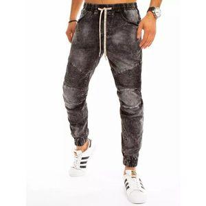Trendové tmavě šedé džíny obraz
