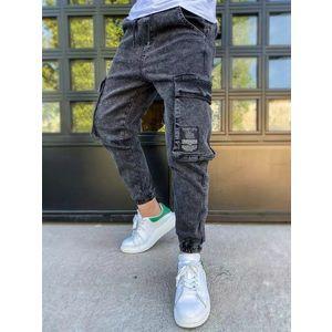 Kapsáčové černé módní džíny obraz