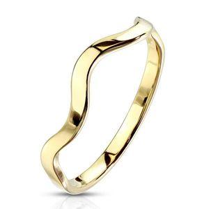 Prsten z chirurgické oceli - vlnka - Velikost: 59 obraz