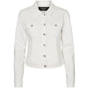 Vero Moda Dámská džínová bunda VMHOT SOYA 10193085 Bright White S obraz