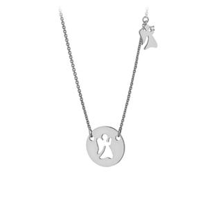 JVD Něžný stříbrný náhrdelník s andělíčky SVLN0172XH2BI45 obraz