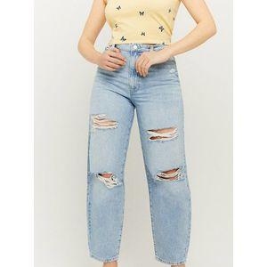 Světle modré zkrácené straight fit džíny s potrhaným efektem TALLY WEiJL obraz
