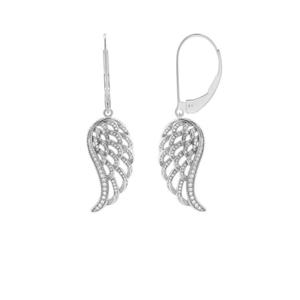 JVD Půvabné stříbrné náušnice Andělská křídla SVLE0399SH2BI00 obraz