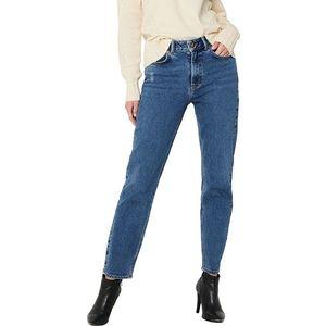 Jacqueline de Yong Dámské džíny JDYKAJA LIFE Straight Fit 15216501 Medium Blue Denim 25/32 obraz