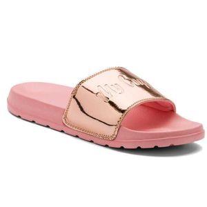Coqui Dámské pantofle Cleo Powder Pink/metalic Pink 7062-100-6289 36 obraz