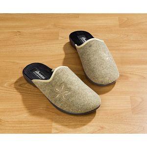 Dámské pantofle s podpatkem obraz