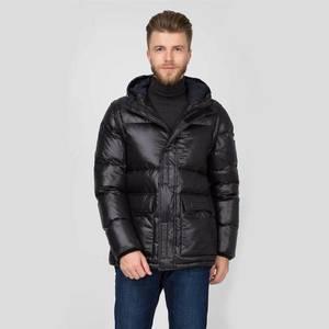 Tommy Hilfiger pánská černá lesklá bunda obraz