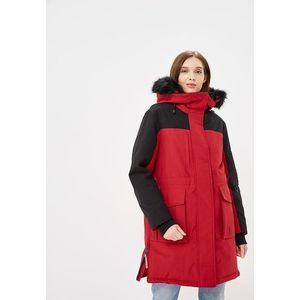 Tommy Hilfiger dámská červeno černá bunda Icon obraz