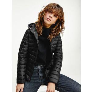 Tommy Hilfiger dámská černá prošívaná bunda obraz