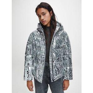 Calvin Klein dámská stříbrná zimní bunda obraz