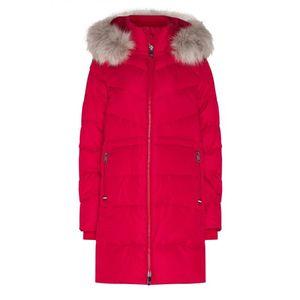 Tommy Hilfiger dámská červená zimní bunda obraz