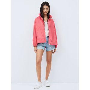 Pepe Jeans dámská růžová bunda Monna obraz