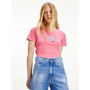 Tommy Jeans dámské růžové tričko obraz