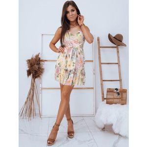 Elegantní květinové Madi šaty v ecru barvě obraz