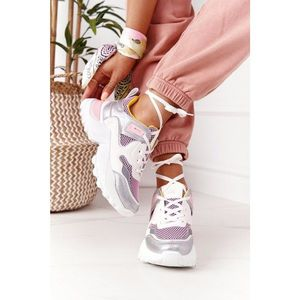 Women's Sports Shoes Sneakers White-Pink Infinity obraz