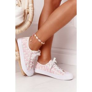 Women's Logged Sneakers White-Pink Day Off obraz