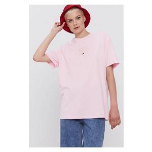 Tommy Jeans dámské světle růžové triko obraz