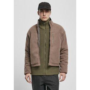 Urban Classics Reversible Polar Fleece Jacket darkkhaki/asphalt obraz