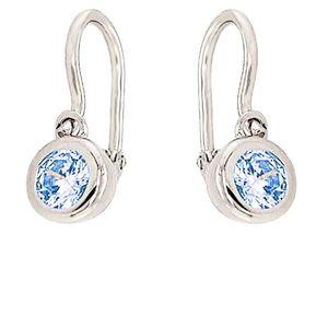 MOISS Něžné stříbrné náušnice s modrými zirkony E0000615 obraz