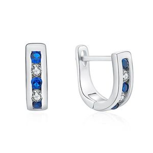 MOISS Elegantní stříbrné náušnice s čirými a modrými zirkony E0000207 obraz