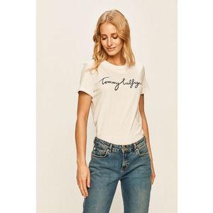 Tommy Hilfiger dámské bílé tričko s potiskem obraz